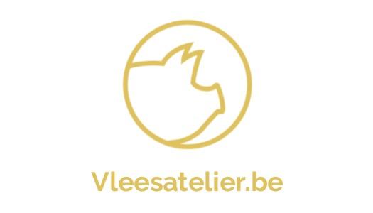 Logo vleesatelier wit + logo goud